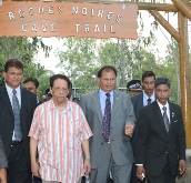 Prime Minister inaugurates the Roches Noires Caves Trail