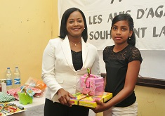 National Children's Council donates educational toys to over 100 Agalegan children