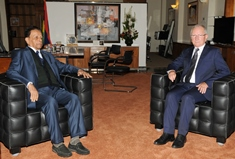 Prime Minister meets Ambassador of Belgium at Treasury Building