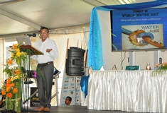 World Water Day marked by an Exhibition on 'Water and Jobs' at La Marie Water Treatment Plant
