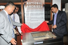 China donates restoration equipment to National Archives Department