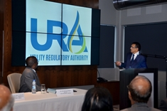 The Utility Regulatory Authority's Logo unveiled by DPM