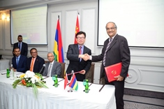Mauritius and China sign exchange note for multi-sports complex at Cote D'Or