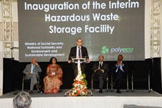 Interim Storage Hazardous Waste Facility inaugurated at La Chaumière