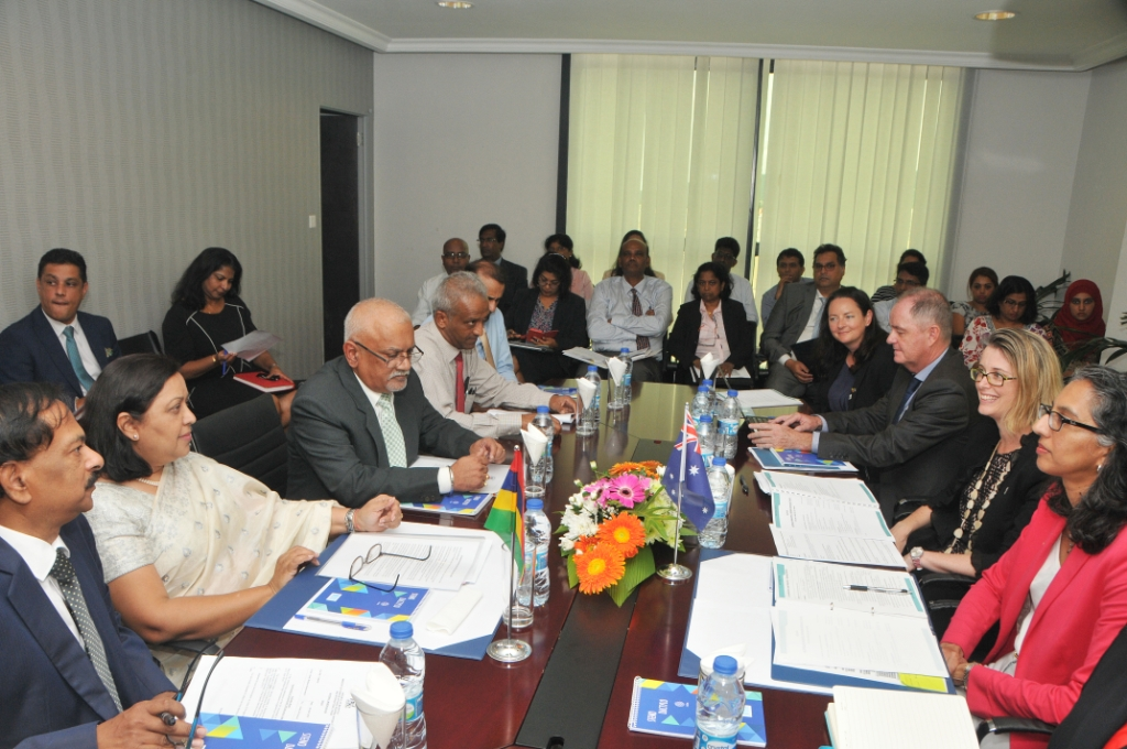 Mauritius-Australia inaugural G2G meeting focus on bilateral cooperation