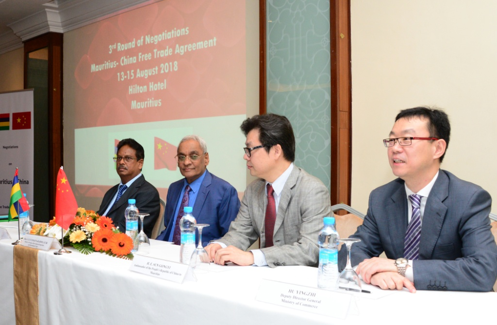 Mauritius- China FTA: Third round of negotiations underway