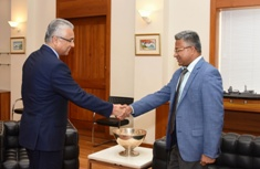 Indian High Commissioner to Mauritius pays farewell call on Prime Minister