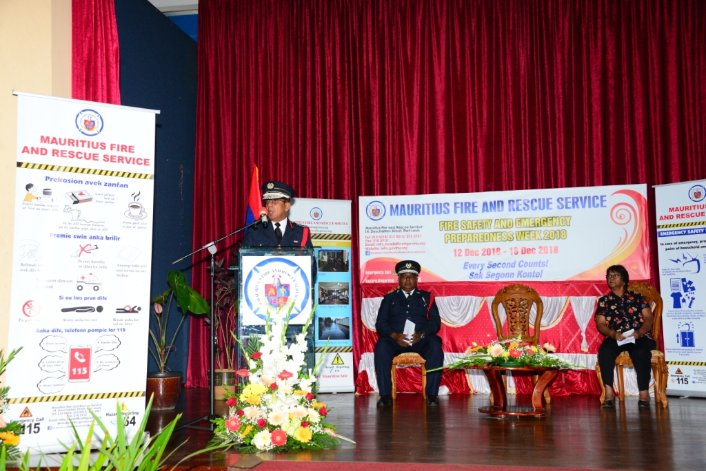 Launching of Fire Safety and Emergency Preparedness Week 2018