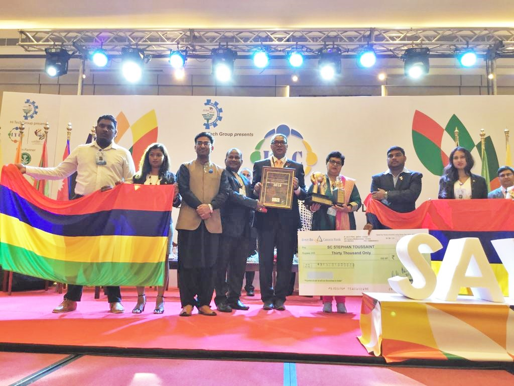 Minister Toussaint awarded Best Youth Minister Award in Sri Lanka