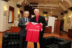 Liverpool Football Club Ambassador Ian Rush meets Prime Minister