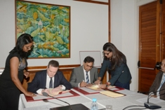 Extended Continental Shelf: Signature of agreement for geotechnical study