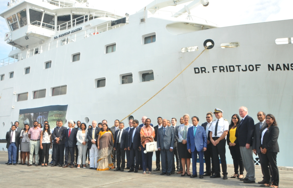 Norwegian Research Vessel calls at Port Louis harbour after 30-day mission at sea
