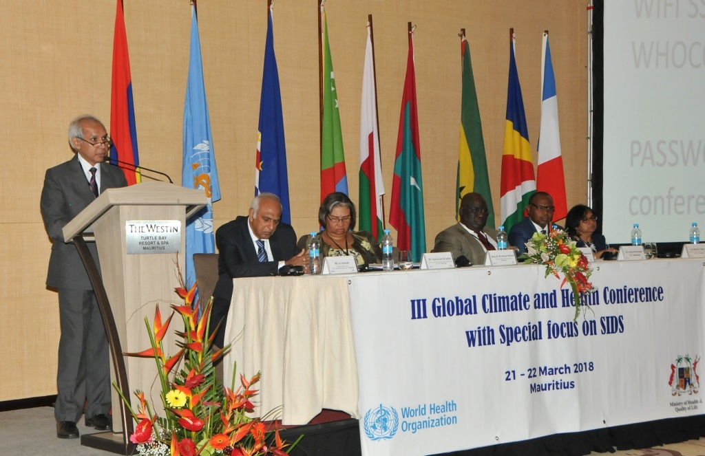 Third Global Conference on Health and Climate for SIDS opens today