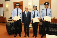 Three Police Officers receive commendation letters from Prime Minister