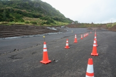 Repair of Terre Rouge-Verdun Link Road embankment failure reaches important phase