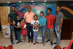 Mauritian Gold Medalists in Gymnastics honoured for their outstanding performances