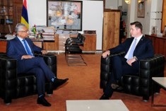 Prime Minister Jugnauth meets Minister of Foreign Affairs and European Integration of Moldova