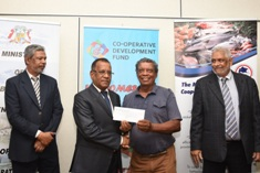 Letters of intent for purchase of outboard engine and fishing nets handed over to fishermen cooperatives