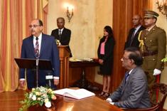Swearing-in ceremony of newly appointed Chief Justice Eddy Balancy