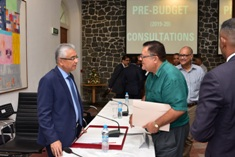 Pre-Budget 2019-2020 consultation: Meeting with SMEs and other sectors