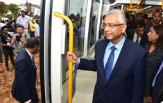 Joint e-Launching of Metro Express and ENT Hospital by Prime Minister Jugnauth and Shri Narendra Modi