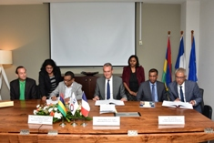 Signature of agreement for the setting up of a Water Observatory in Mauritius and Rodrigues